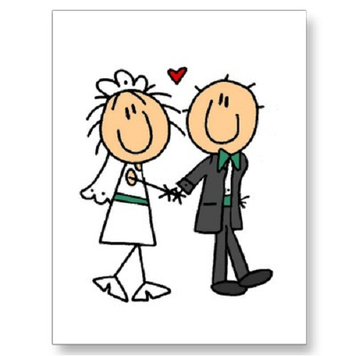 cartoon-bride-and-groom-clipart - Connecticut Wedding DJ